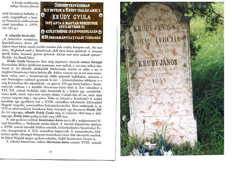 Emléktábla és sírkő (Fotó: Csáky Károly archívuma)