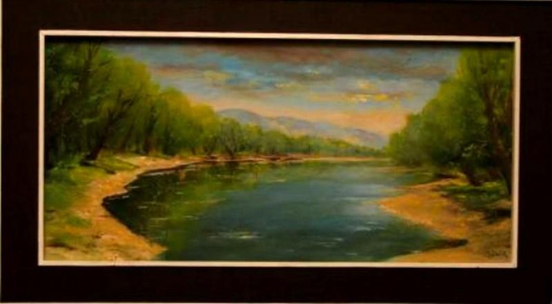 Lábik János a Dunát és a vizeket festette meg