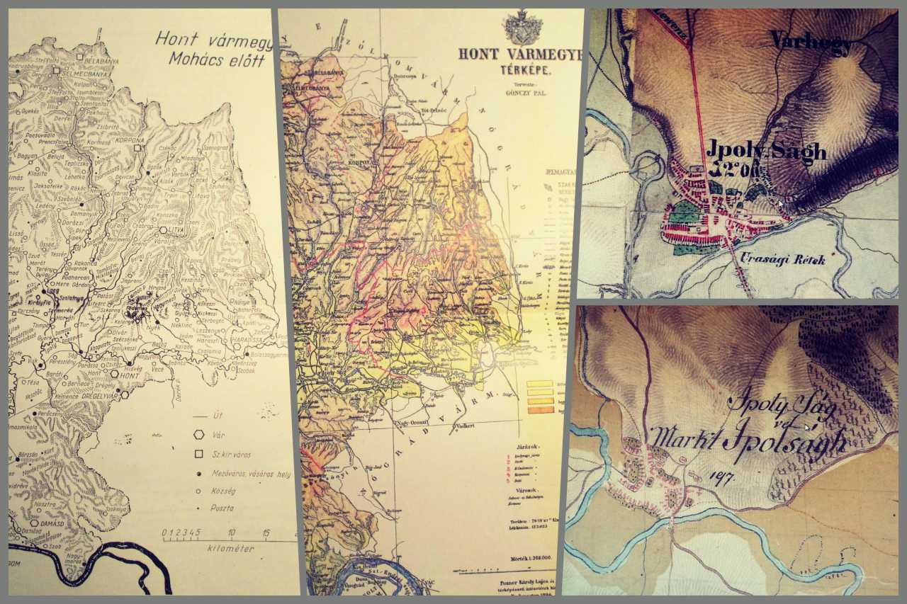 Településeink a régi térképen