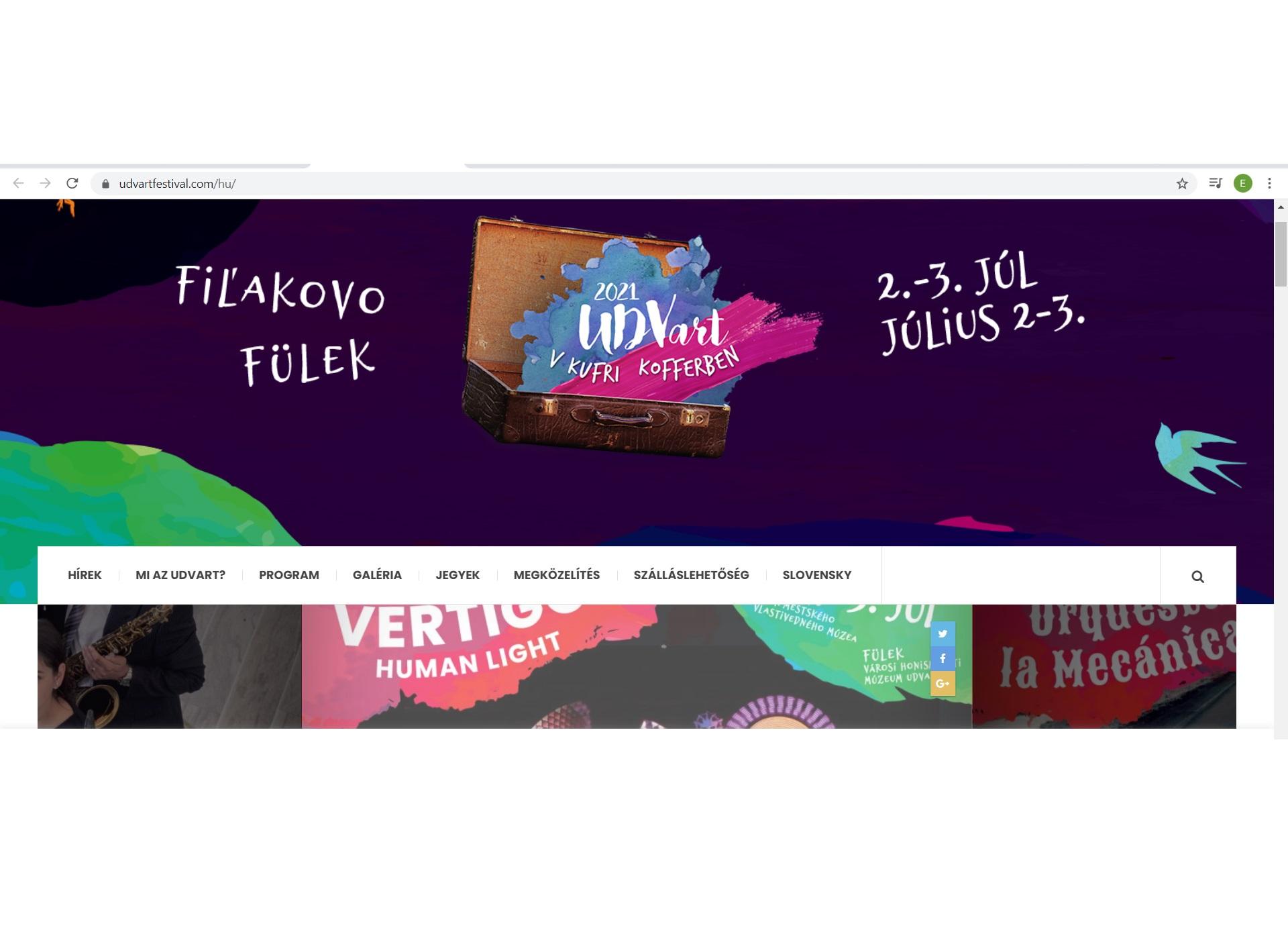 A füleki UDVart fesztivál kofferben július 2-án nyílik
